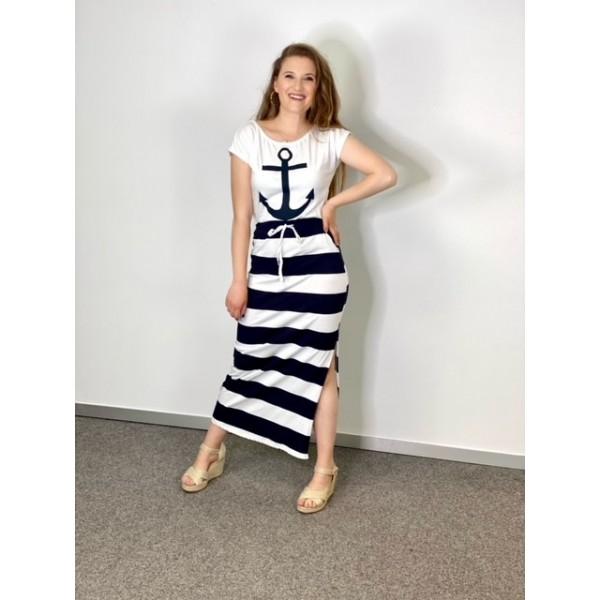 Vestido Navy Blanco