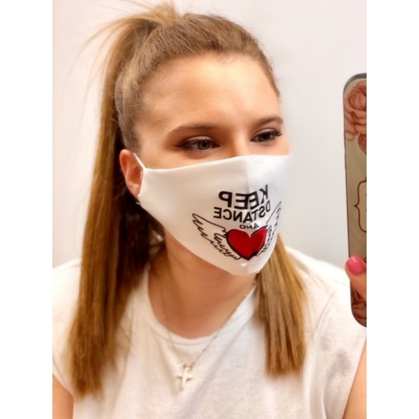 Cover Mask Distance Blanca