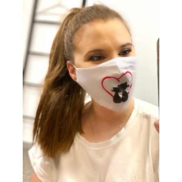 Cover Mask Love Cats