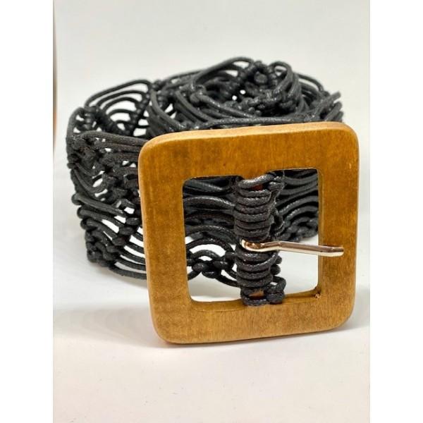 Cinturón Trenza Negro