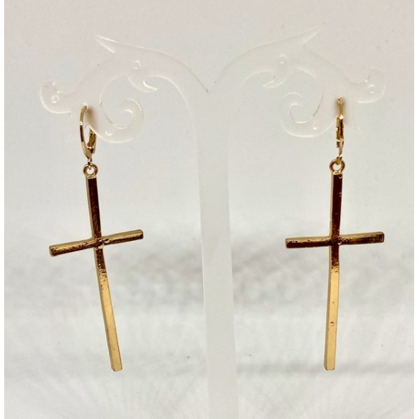 Pendientes Cross Gold