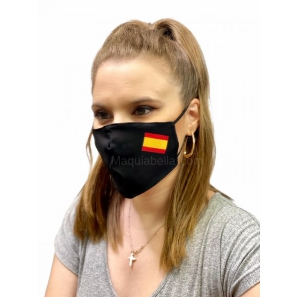 Cover Mask Flag Negra