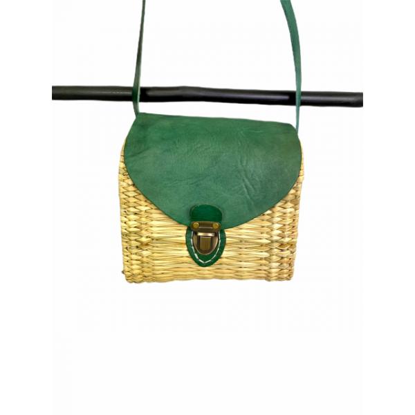 Bolso Mimbre Green