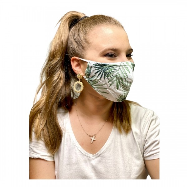 Cover Mask Leaf Green
