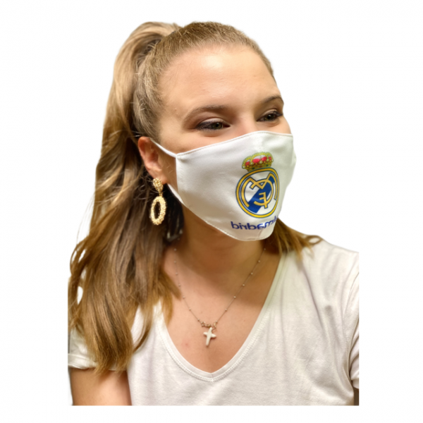 Cover Mask Real Madrid Blanca