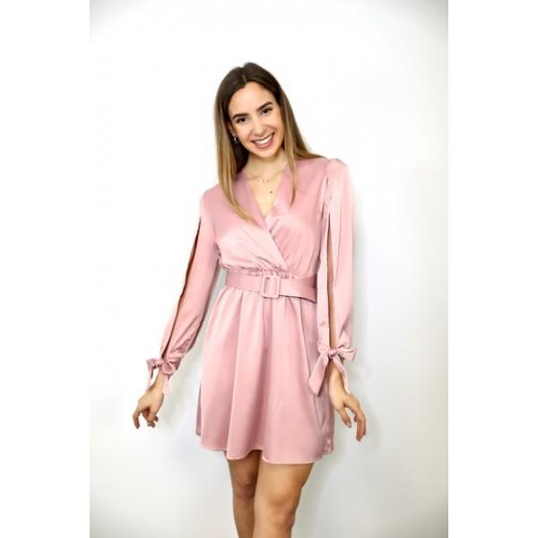 Vestido Rasat Rosa