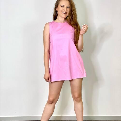 🌷MONO MARISOL 22,99€🌷MAQUIABELLA.COM  Mono Vestido vestido , con cremallera en la espalda y tirante ancho.  TALLA UNICA VALIDO PARA S36 M38 L40   #mono #vestido #monorosa #rosachicle #rosa #pink #color #temporada #summer #inspiracion #inspo #outfit